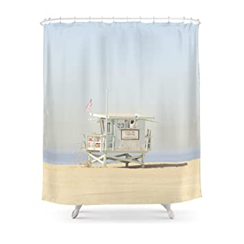 Society6 NEVER STOP EXPLORING VENICE BEACH No 23 Shower Curtain 71quot