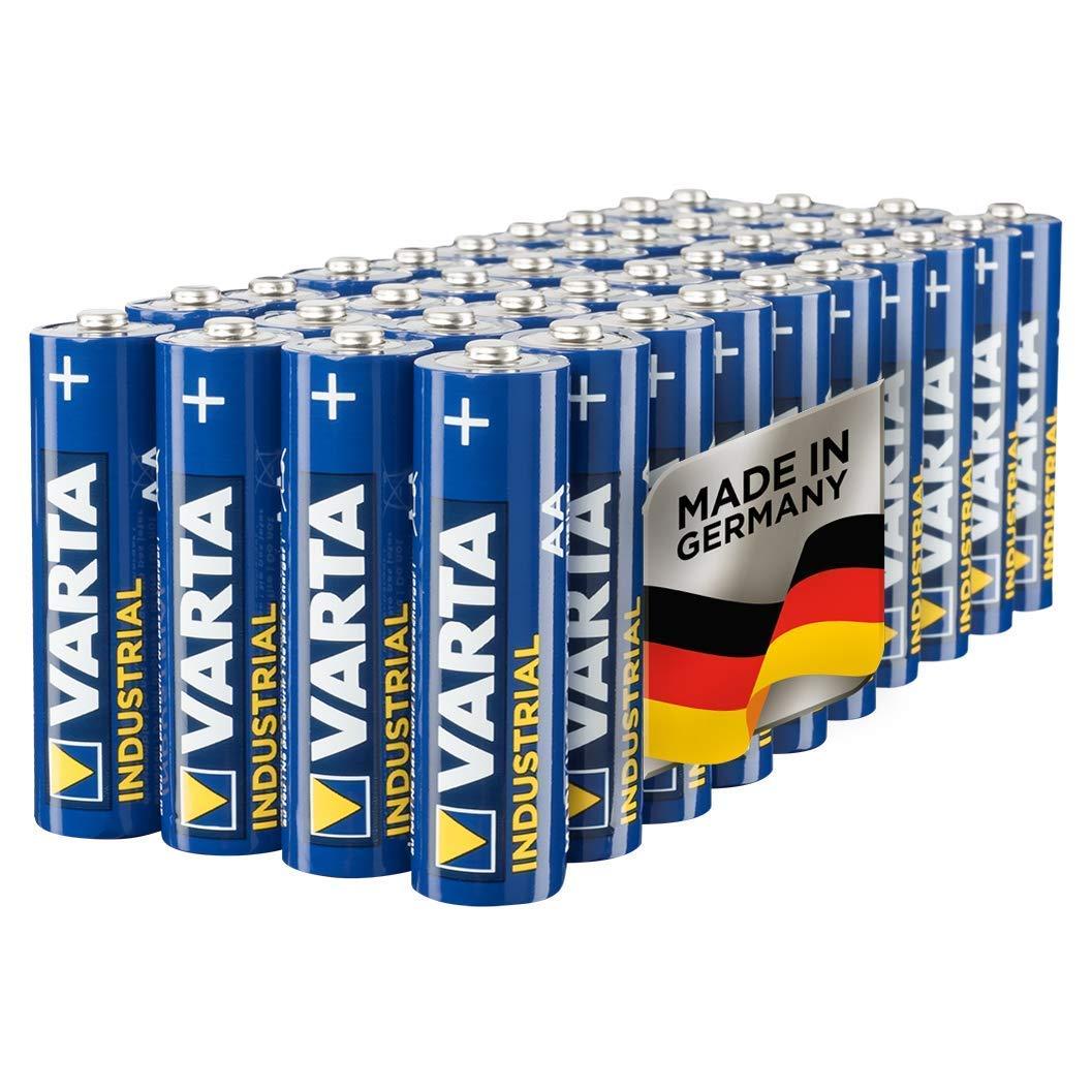 VARTA Industrial - Pilas alcalinas AA / LR6 / Mignon (pack de 40 unidades,