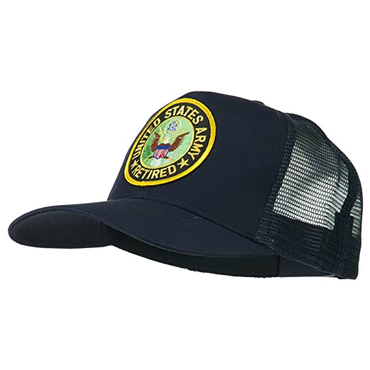 8fe48e8aa09 E4hats US Army Retired Circle Patched Mesh Cap - Navy OSFM at Amazon ...