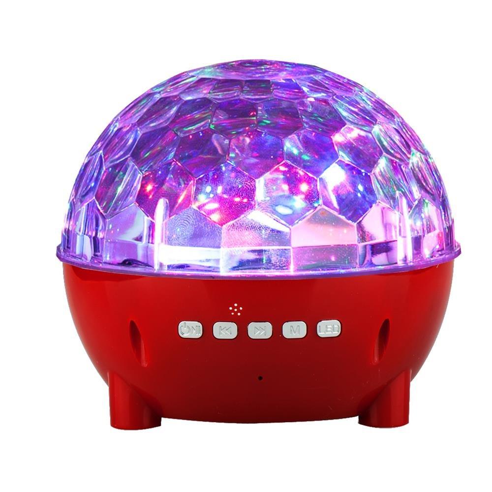 Mini Colorful Stage Lights Wireless Speaker for Xperia 1, 10 Plus, 10, L3, Alcatel 3L, 3 (2019), 1s, 1x (2019) (Red)