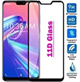 Techgadget 11D Edge-to-Edge Full Glue Tempered Glass for ASUS Zenfone Max Pro M2 (Black)