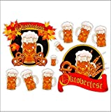 Oktoberfest Beer Static Cling Window Fall Decals Removable and Reusable Fall Clings