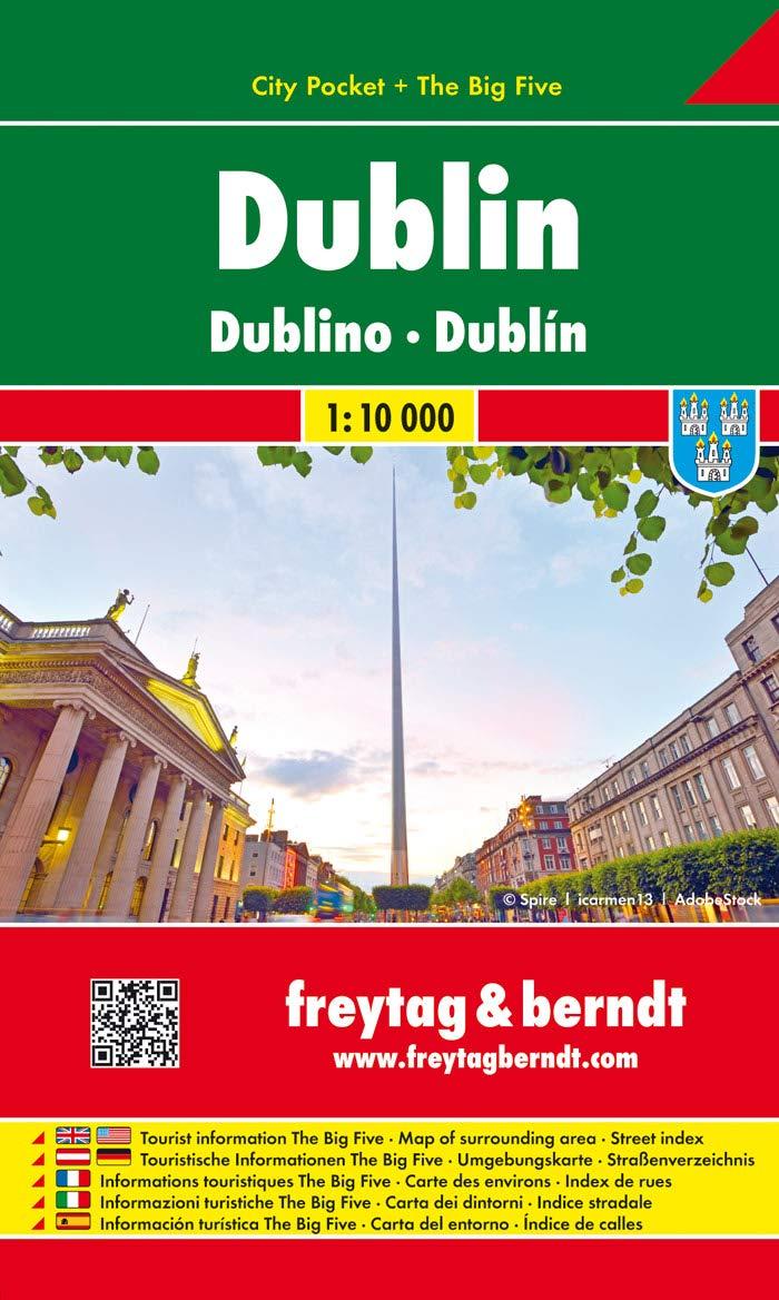 Dublin, Stadtplan 1:10 000, City Pocket + The Big Five, Freytag Berndt Stadtpläne