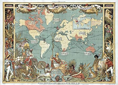 Mp11 vintage old 1886 british empire map of the world poster re mp11 vintage old 1886 british empire map of the world poster re print a1 gumiabroncs Images