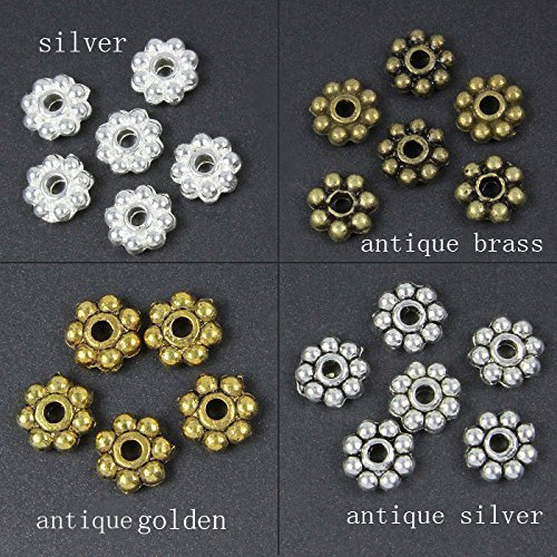 HYBEADS 200PCS 6mm mixed Tibetan antique daisy spacer - Antique Mixed