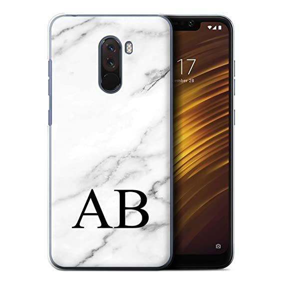 new style 0bfc2 16cef Amazon.com: Personalized Custom Marble Case for Xiaomi Pocophone F1 ...