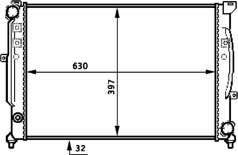 MAHLE Behr CR 423 000S Radiator