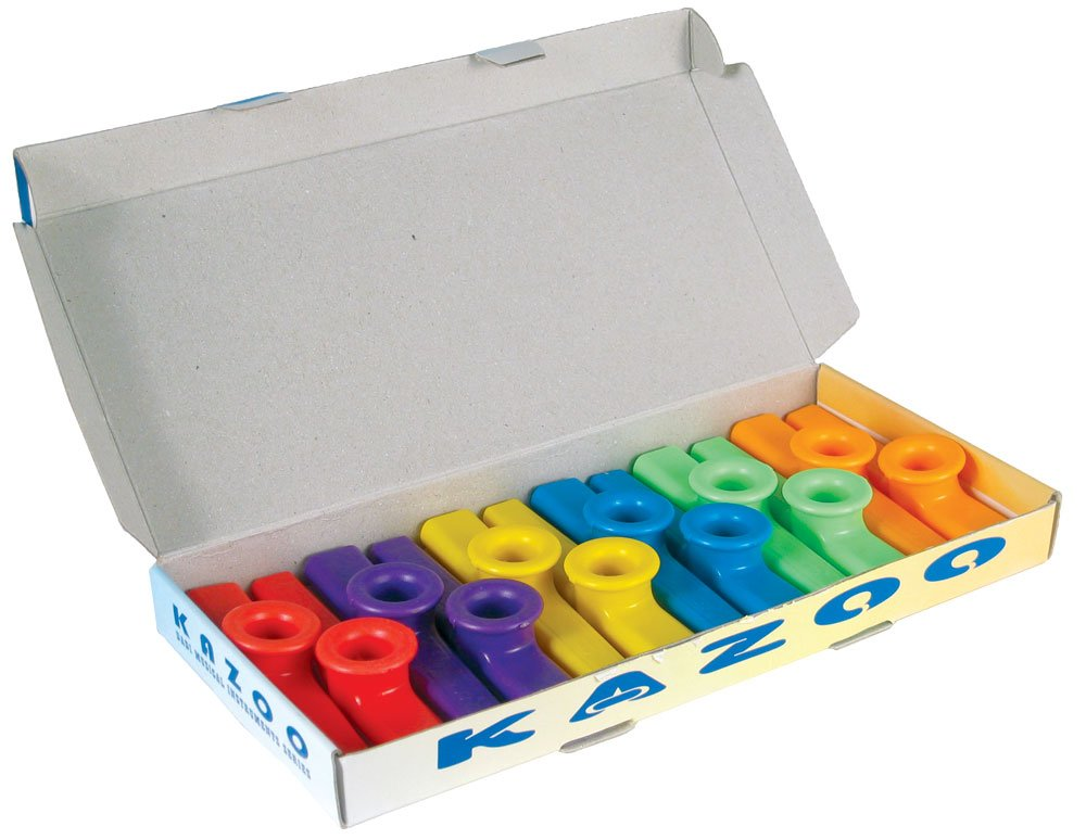 Atlas KA-1 Coloured Plastic Kazoos Box 12