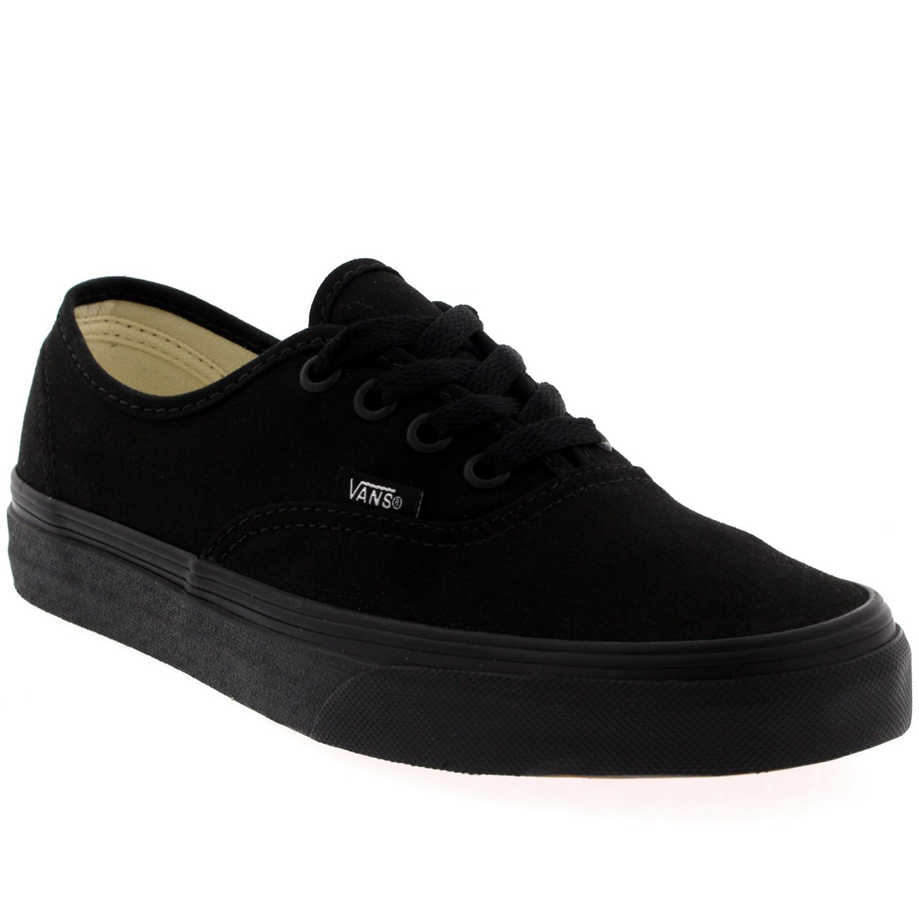 Vans Authentic Unisex Skate Trainers Shoes Black/Black 7 B(M) US Women/5.5 D(M) US Men