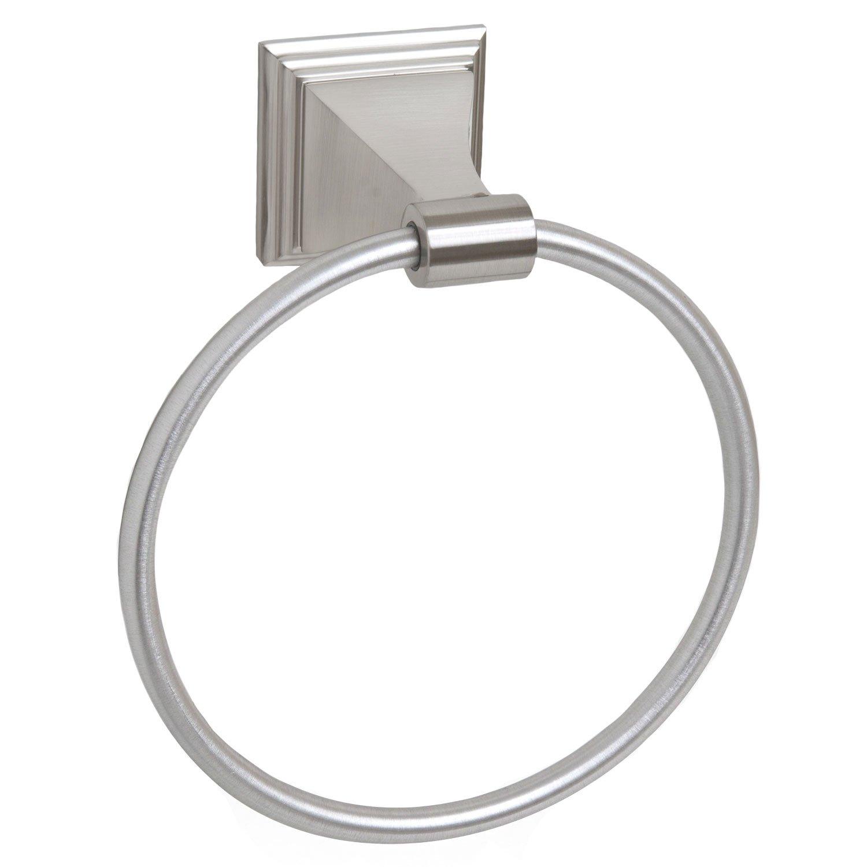 Satin / Brushed Nickel Bathroom Towel Ring