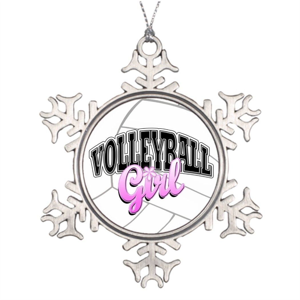 Tree Branch Decoration Volleyball Girl Snowman Christmas Snowflake Ornaments Sport Call ME BAby