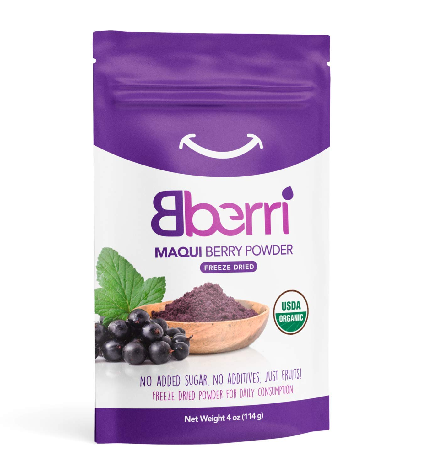 Amazon Com Bberri Maqui Berry Powder 100 Organic Pack Of 4 Oz