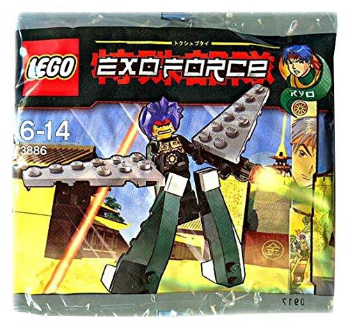 LEGO Exo Force Mini Figure Set #3886 Green Exo Fighter Ryo Walker (Exo Walker)