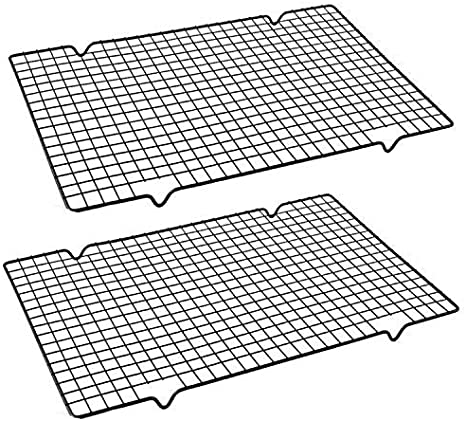 Cooling Rack Non-stick Wire Grid 40 x 25 CM Baking Cupcake Tray Kitchen Oven UK