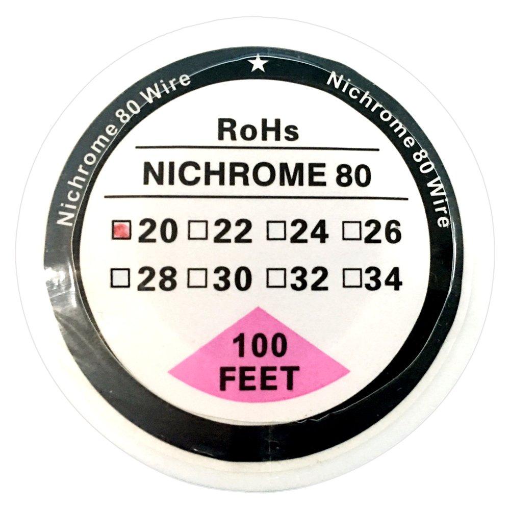 calibres de 20awg a 34awg 30 m Carrete de alambre de resistencia de nicromo 80