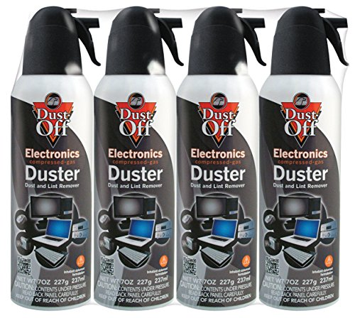 - Dust-Off DPSM4 Disposable Duster, 7 oz. - Pack of 4