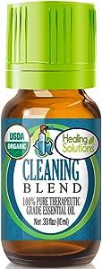Organic Cleaning Blend Essential Oil (100% Pure - USDA Certified Organic) Best Therapeutic Grade Essential Oil - 10ml