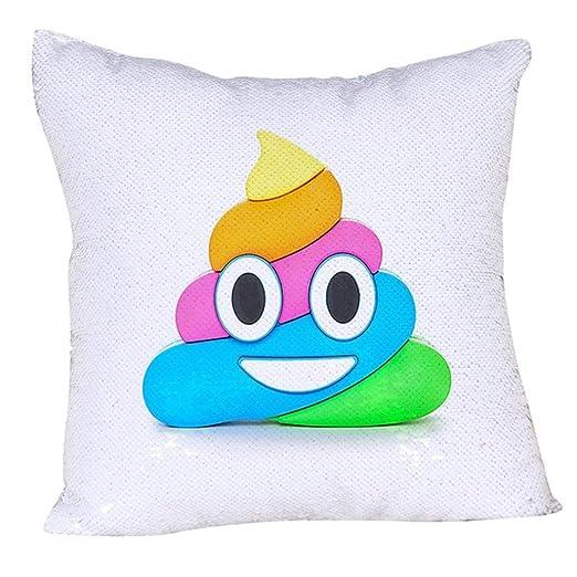 Bensontop Fundas de Almohada de Tiro Divertidas Emoji de ...