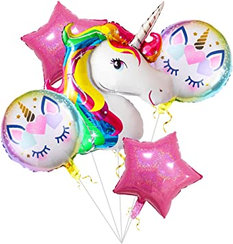 Amazon.com: Globos de unicornio para fiestas de cumpleaños ...