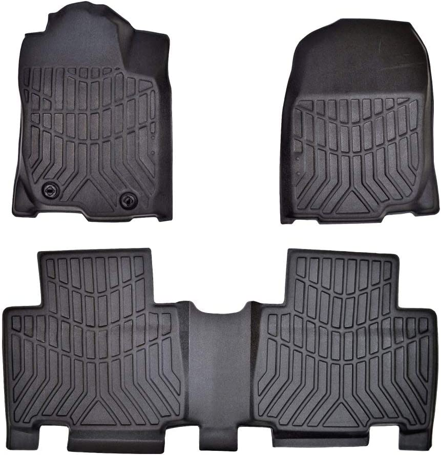 PT Auto Warehouse Black First /& Second Row Floor Liners 890202-890204