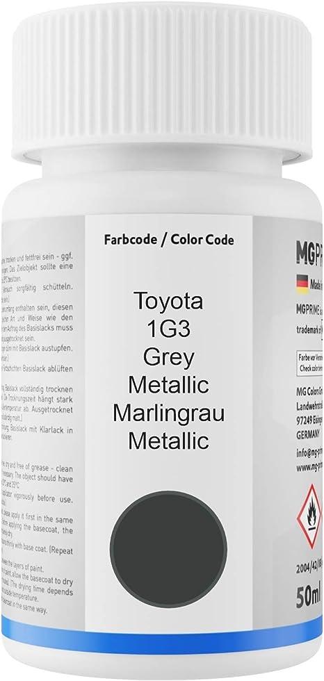 Mg Prime Autolack Lackstift Set Für Toyota 1g3 Grey Metallic Marlingrau Metallic Basislack Klarlack Je 50ml Auto