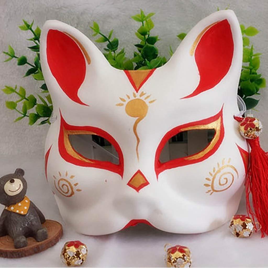 FYPmj Maschera Marshmello dj La Maschera di plastica della Volpe della Volpe della Volpe, la Maschera Adulta della Fase, la Maschera della polpa del Mezzo Fronte, invia la Campana della Nappa