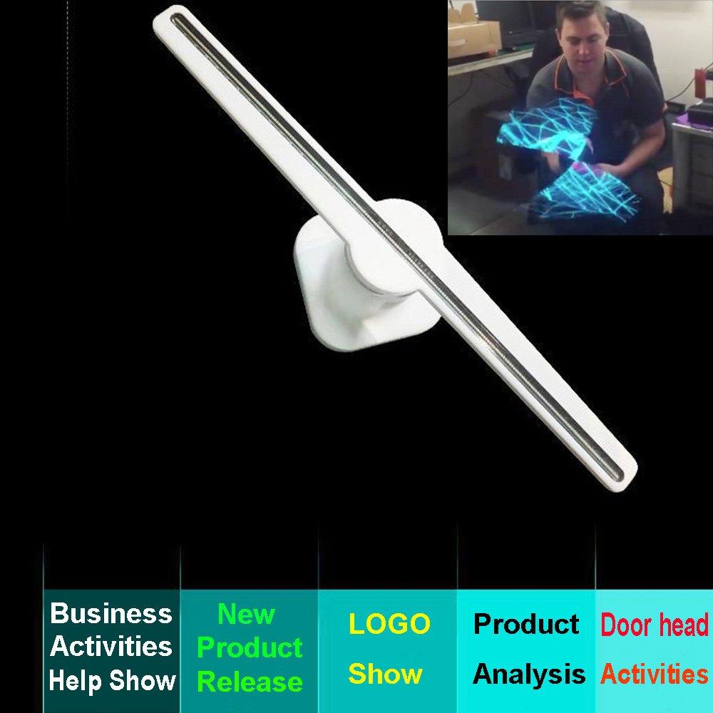 Proyector 3D Visualización de Publicidad de Holograma Ventilador LED Imágenes...