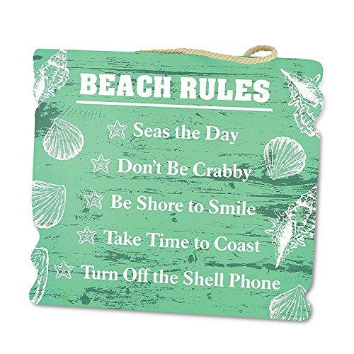 KOVOT Wooden Style Beach Rules