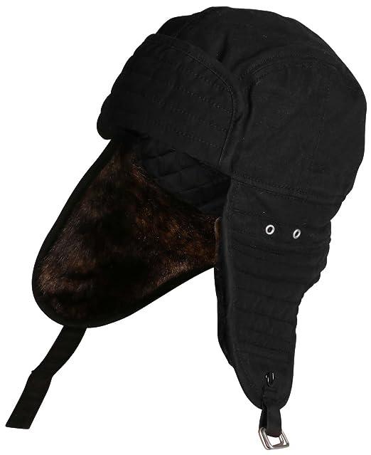 996af28a1 True Religion Men's Moto Trapper Hat (LXL, Black): Amazon.ca ...