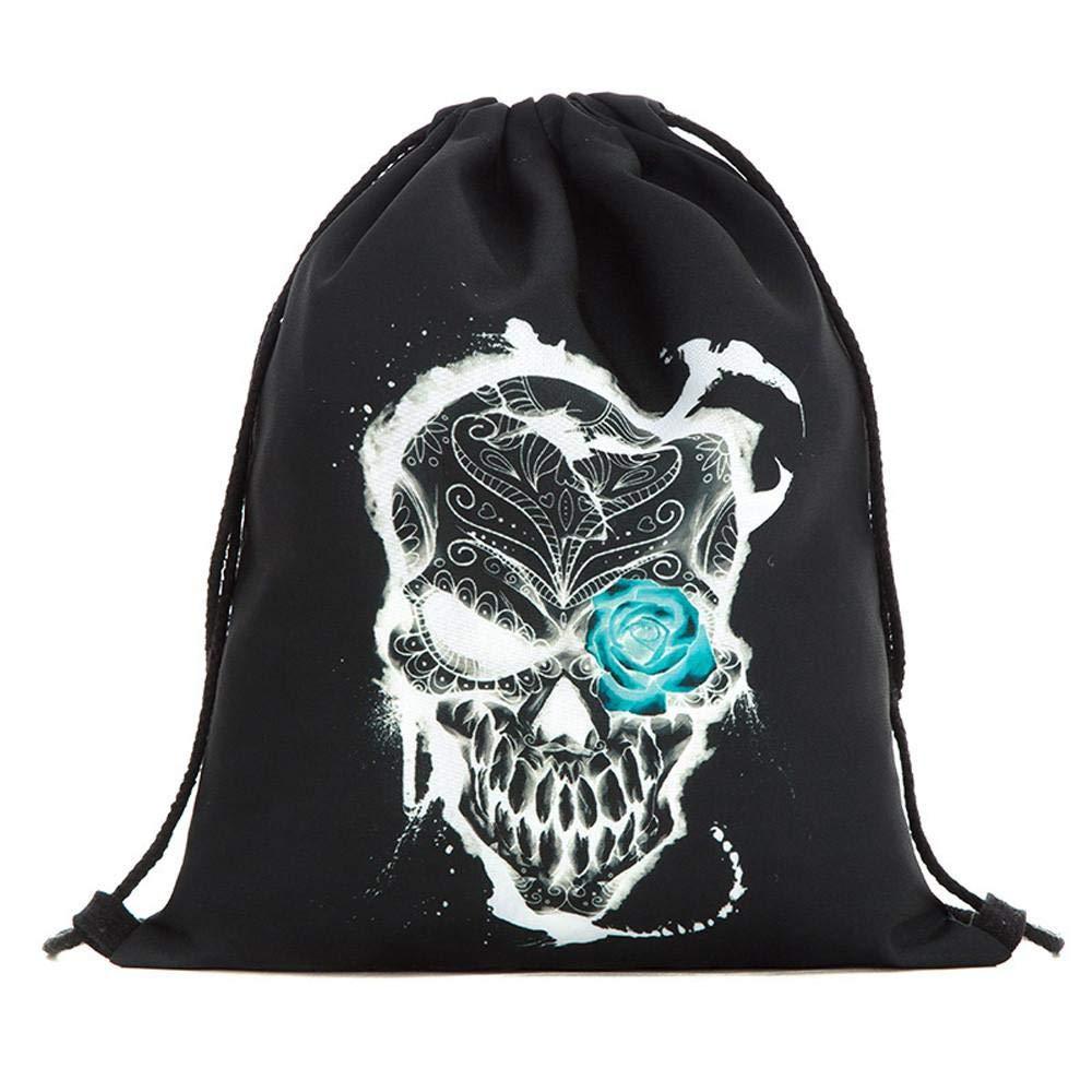 Hot sale! Halloween Candy Bag,Sameno Gift Bag Bundle Pocket 3D Printing Bags Drawstring Backpack (B)