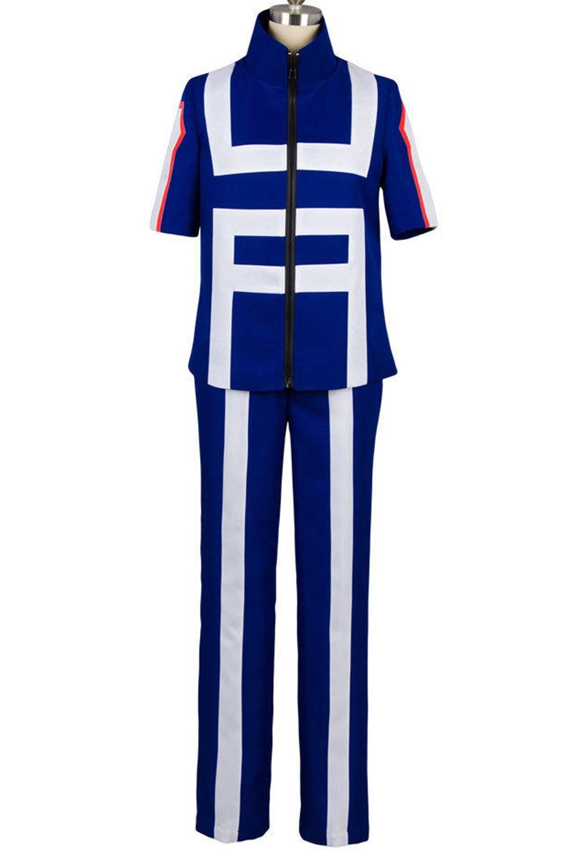 Valecos Cosplay Boku No Hero Academia My Hero Academia Izuku Midoriya Costume Training Suit Uniform Blue (Medium)