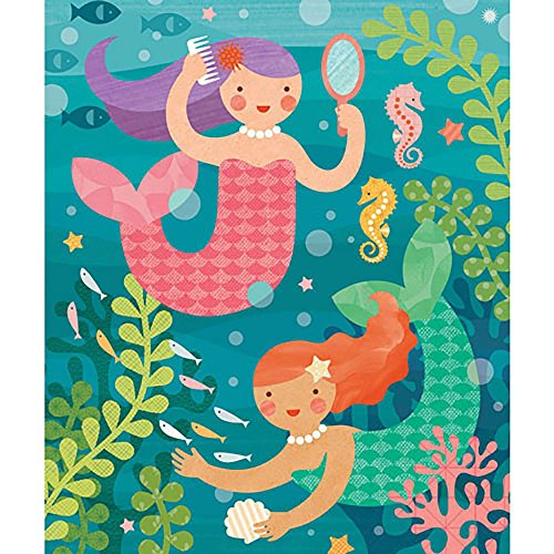 Petit Collage Playful Mermaids 64 Piece Tin Puzzle