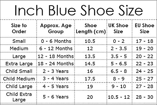 Inch Blue Krabbelschuhe Hippo Blue/Grey, Child Extra Large