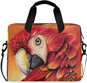CCDMJ Laptop Case Watercolor Animal Parrot Macaw Laptops Sleeve Shoulder Messenger Bag Briefcase Notebook Computer Tablet Bags with Strap Handle for Women Man Boys Girls 16 Inch