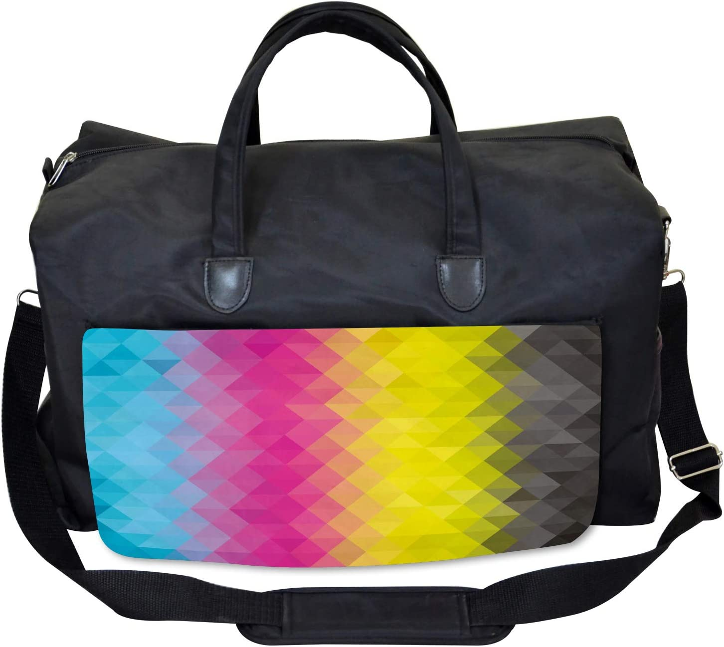 Artistic Modern Mosaic Large Weekender Carry-on Ambesonne Abstract Gym Bag