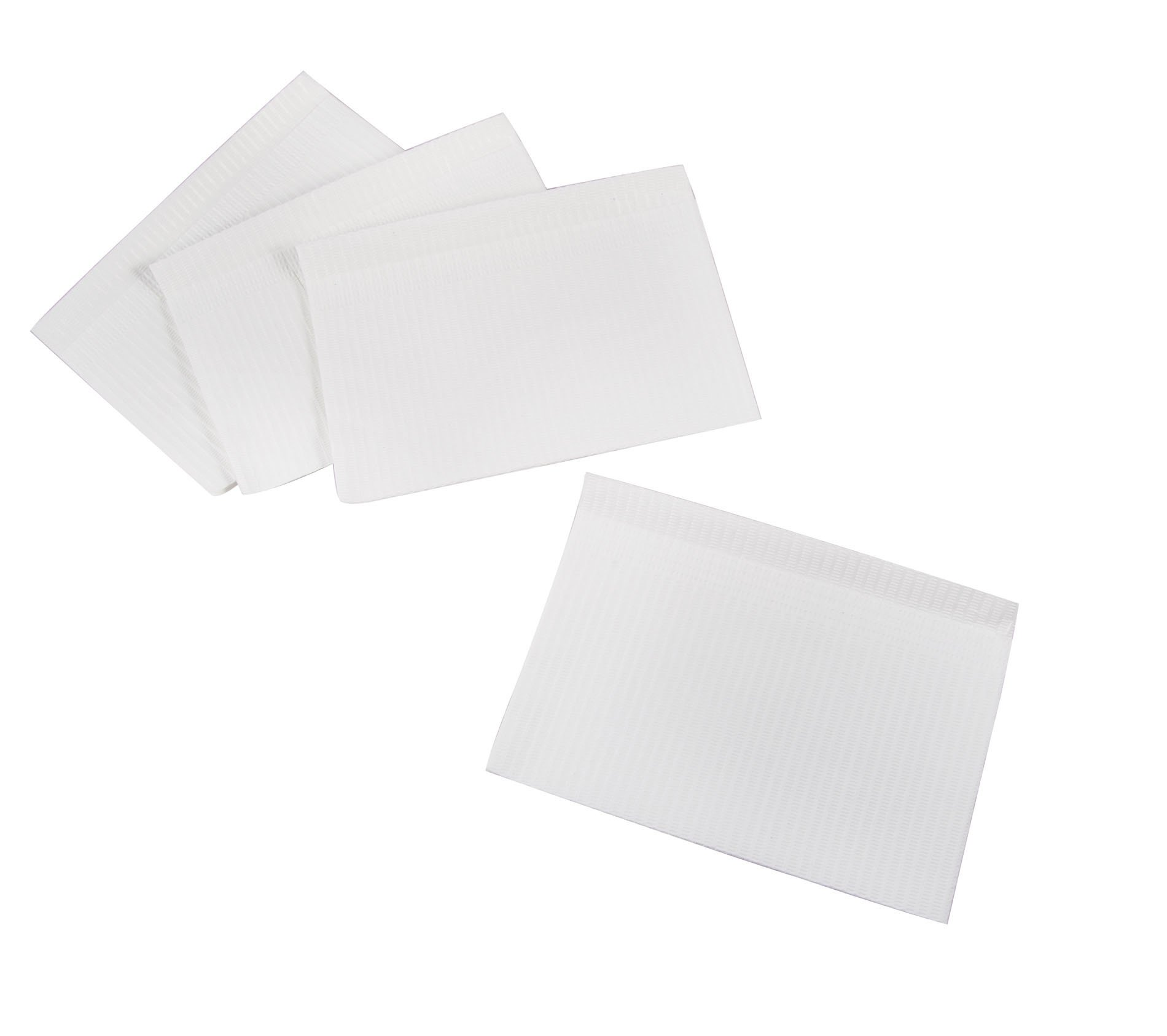 Primo Dental Products PBWH Patient Bib, 2-ply with Poly, 13'' x 18'', White (Pack of 500)
