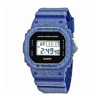 7dce57b927b Amazon.com  Casio DW5600DE-2 G-Shock Men s Watch Denim Blue 48.9mm ...