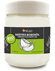 Huile de noix de coco biologique extra vierge, mituso, 0,5 Litre (1 x 500 ml)