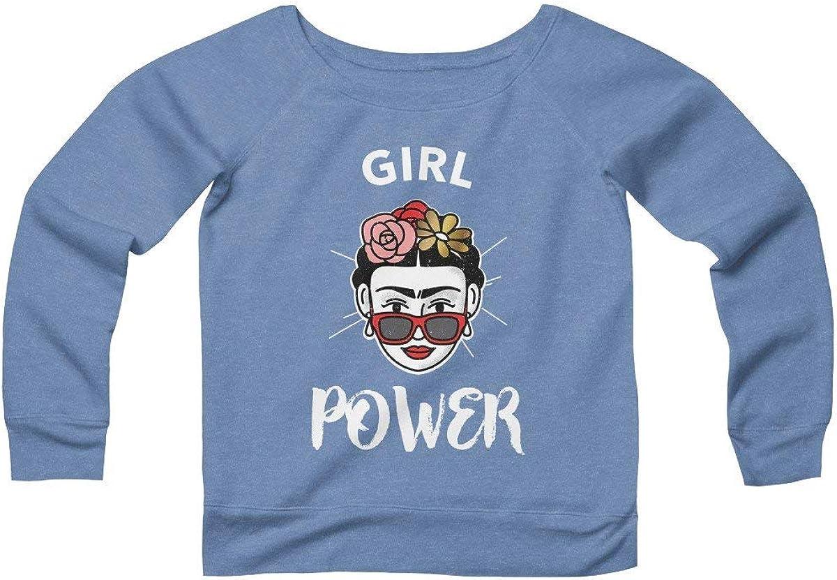 Davatka Girl Power Sweatshirt Frida Kahlo Feminist Shirt Unisex Heavy Blend Crewneck Jumper