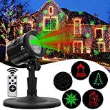 Diateklity YG-LA-01 Projector Red and Green Star Shower Outdoor Laser Light for Christmas, Party, Landscape, House and Garden Decorations