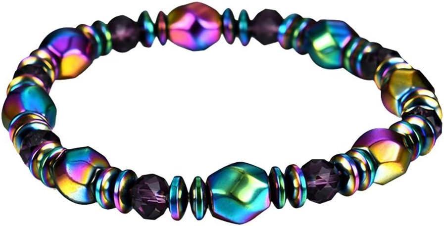 BIGBOBA Pulsera de piedras preciosas de colores para mujer, diseño de cadena de la suerte, regalo de Navidad