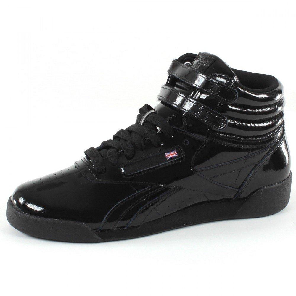 Reebok F/S Hi Patent, Zapatillas de Deporte para Mujer 36.5 EU|NEGRO