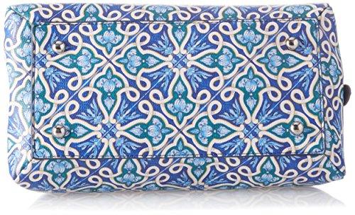 YNOT Ve001/Pe18, Borsa a Tracolla Donna, 14x27x27 cm (W x H x L) Blu