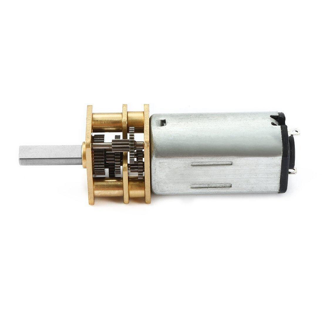 SODIAL CC 6V 15 tr//min Moteur de reduction de micro-vitesse Mini moteur de boite dengrenage avec 2 broches pour bricolage Jouet de moteur de modele de voiture de robot a telecommande