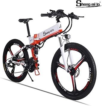 Shengmilo Bicicleta Eléctrica Plegable Freno XOD Shimano 21 Speed ...