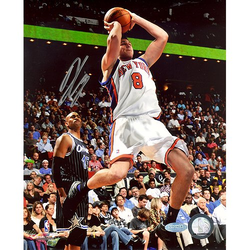 Steiner Sports NBA Danilo Gallinari Knicks White Jersey Shot in Mid Air Vs Magic Autographed 8-by-10-Inch Photograph ()