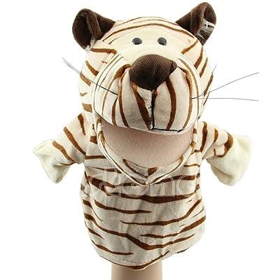 LIZHIOO Niño Niños Lindos Animales de Felpa de Terciopelo Marionetas de Mano Diseños Elegantes Juguetes de Ayuda for el Aprendizaje Muñecas ( Color : Tiger ): Juguetes y juegos