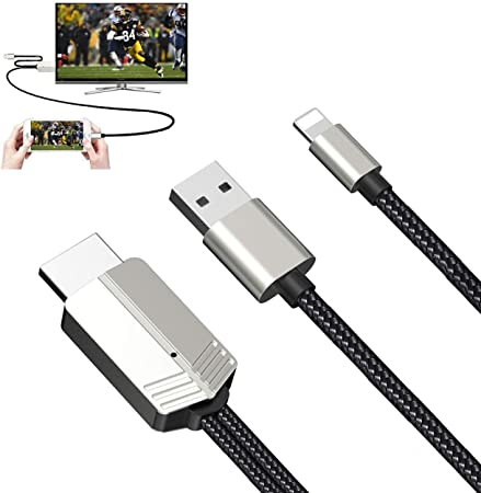 Compatible with iPhone iPad to HDMI Adapter Cable Demeri Digital AV Adapter 1080P HDTV Connector Compatible with iPhone 11 Pro Xs MAX XR X 8 7 6s Plus iPad to TV Projector Monitor