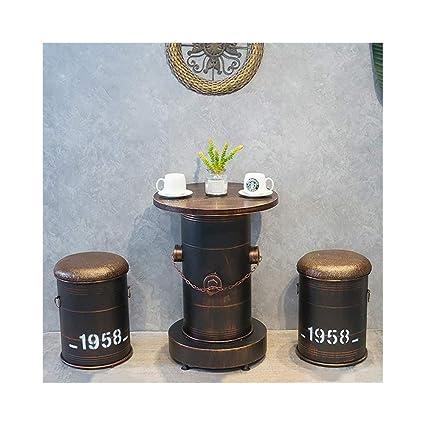 Astounding Amazon Com Vintage Bar Stool Bar Chair Oil Barrel Tables Ncnpc Chair Design For Home Ncnpcorg
