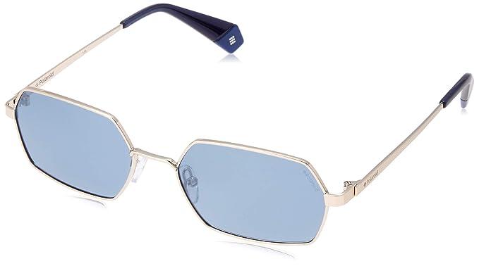 Polaroid PLD 6068/S Gafas de Sol, Multicolor (Gold Blue), 56 ...